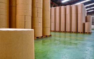 Paper factory, storage