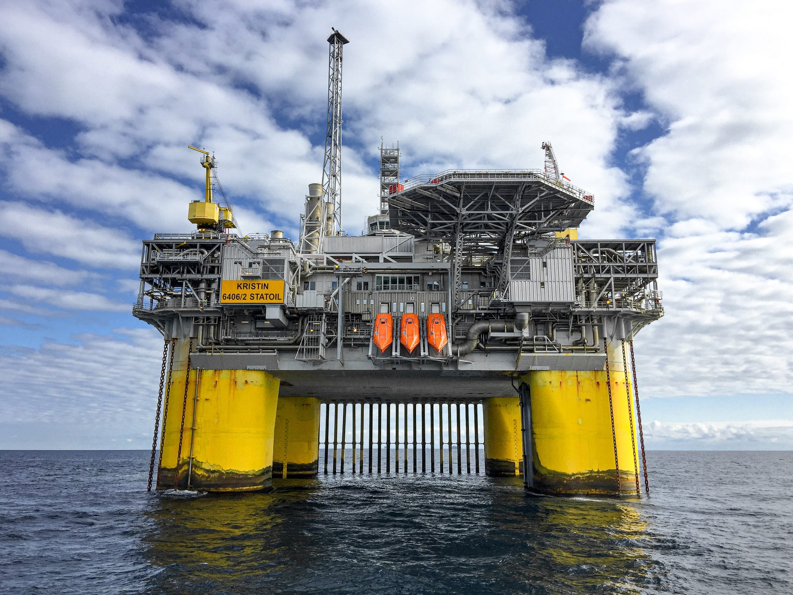 offshore platform at sunny sky