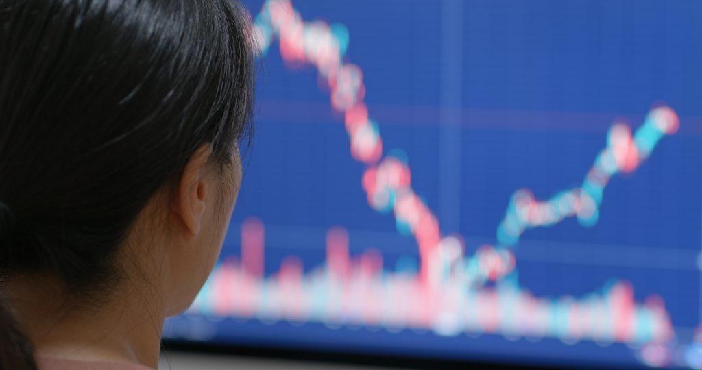 Woman watch on iot data on computer