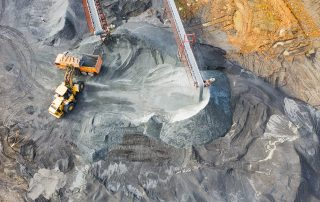 mining industry site seen from above