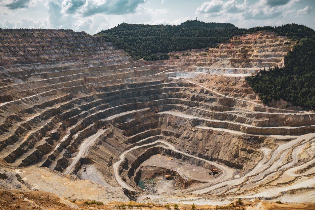 mining industry site at sunlight