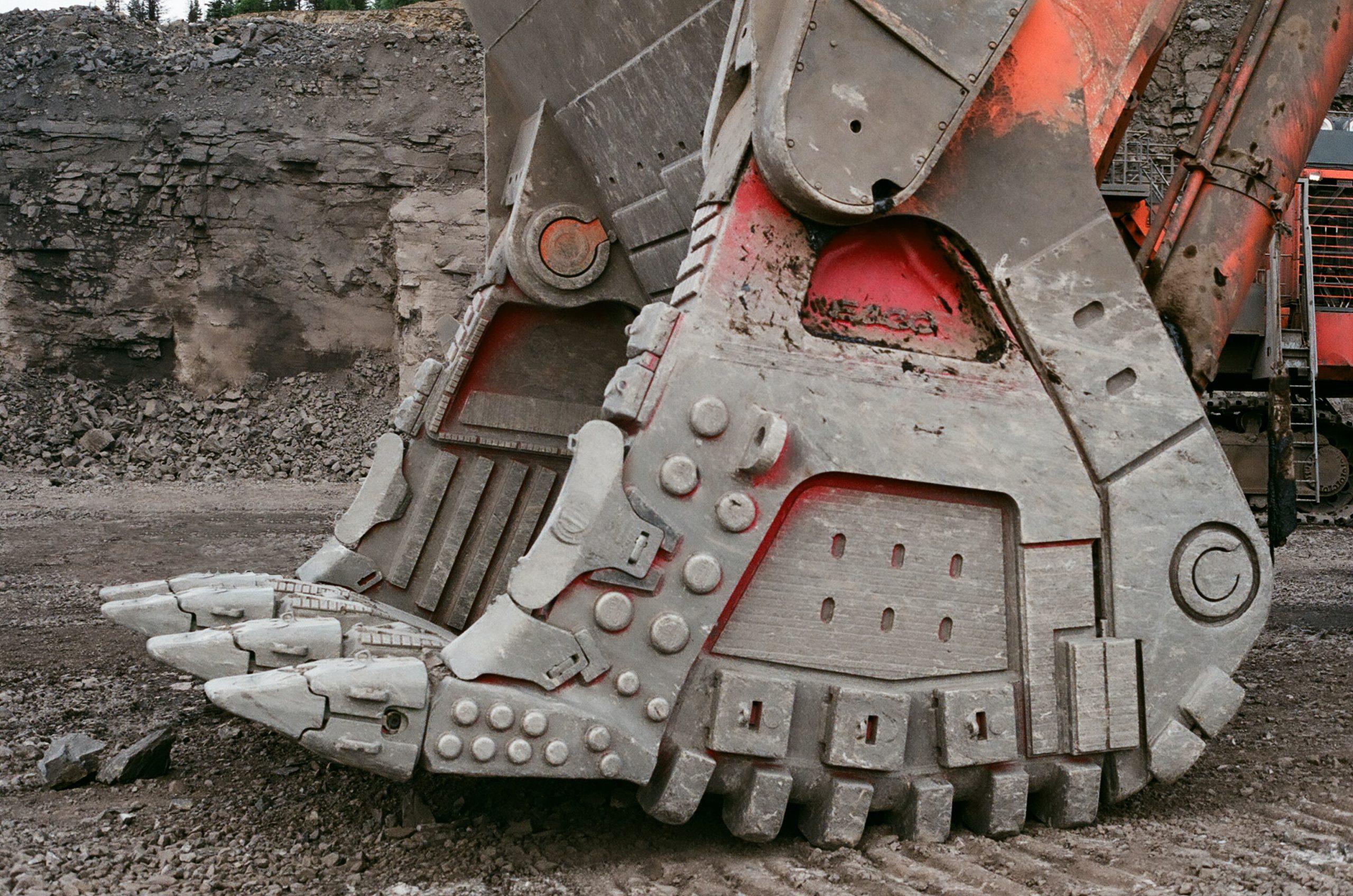 mining equipment on mining operation