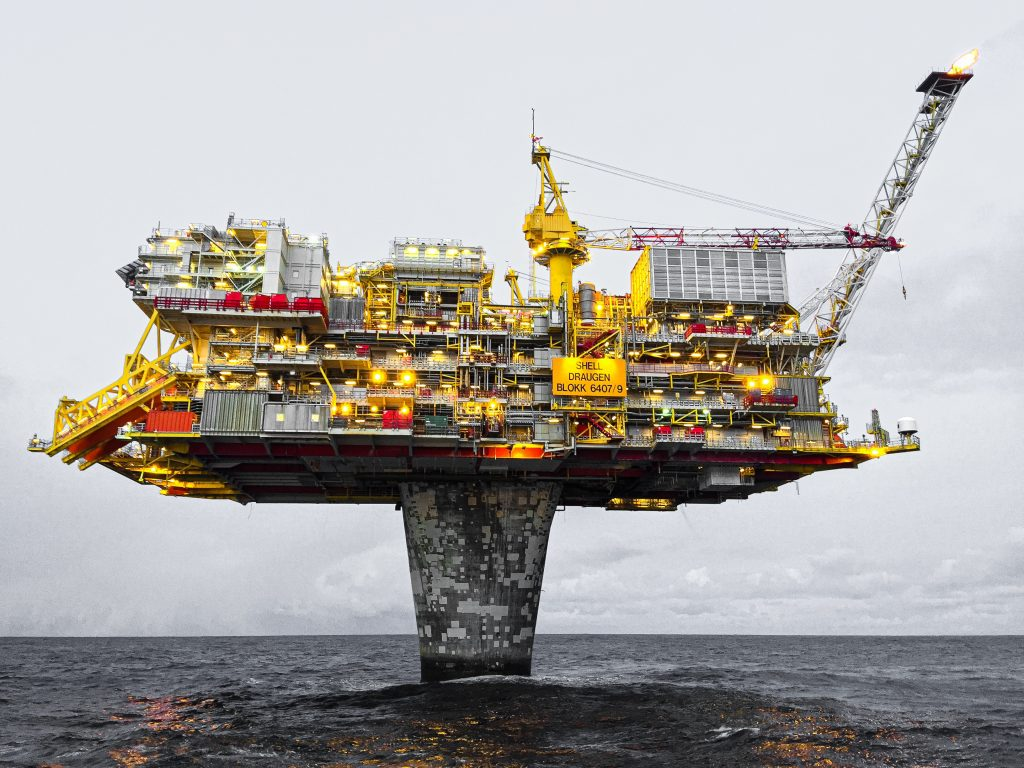 Oil rig in offshore operation